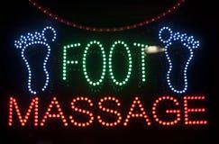 Signe de massage de pied Photographie stock libre de droits