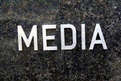 Signe de media Photo libre de droits