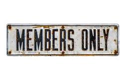 Signe de membres seulement Photo libre de droits