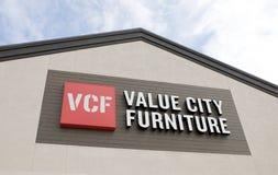 Signe de meubles de ville de valeur Image stock