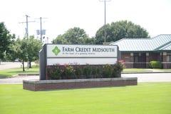 Signe de Midsouth de crédit de ferme, Marion, Arkansas Photo libre de droits