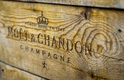 Signe de Moet et de Chandon Champagne images stock