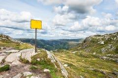 Signe de montagne Photo libre de droits