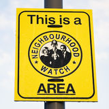 Signe de montre de voisinage Image libre de droits