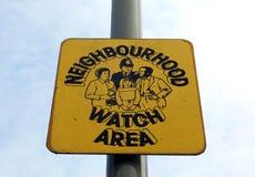 Signe de montre de voisinage photos stock