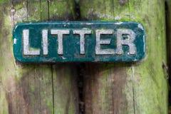 Signe de mot d'ordures photographie stock libre de droits