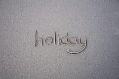 Signe de mot de vacances Photo stock
