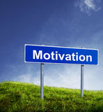Signe de motivation Photos stock