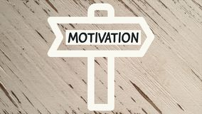 Signe de motivation illustration libre de droits