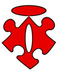 Signe de mt de fixation de puzzle Photo libre de droits