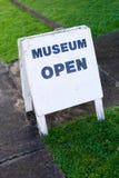 Signe de musée. Image libre de droits