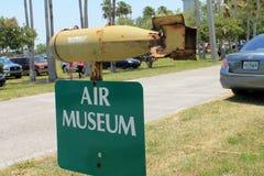 Signe de musée d'air Image stock
