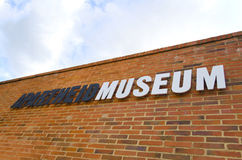 Signe de musée d'apartheid Image stock