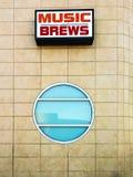 Signe de musique et de brew Photo stock