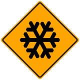 Signe de neige Photographie stock libre de droits