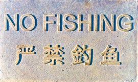 Signe de NoFishing. Images libres de droits