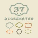 Signe de nombre classique d'adresse pour la maison et les appartements Image libre de droits