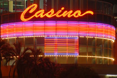 signe de nuit de casino Photo stock