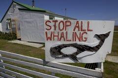 Signe de pêche à la baleine, Images stock