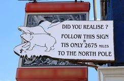 Signe de Pôle Nord Photos libres de droits