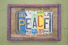 Signe de paix Photos libres de droits