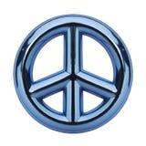Signe de paix bleu Photos libres de droits