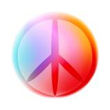 Signe de paix coloré de découpe, vecteur d'isolement illustration stock
