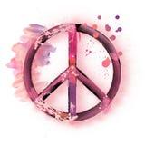 Signe de paix d'aquarelle Image libre de droits