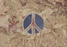 Signe de paix de denim Photo libre de droits