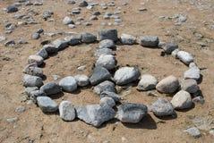 Signe de paix de roche Photographie stock