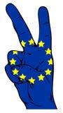 Signe de paix du drapeau de l'Union européenne illustration libre de droits