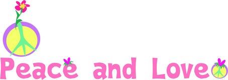 Signe de paix et d'amour illustration de vecteur