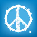 Signe de paix grunge illustration stock