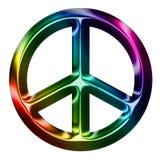 Signe de paix métallique d'arc-en-ciel Image libre de droits