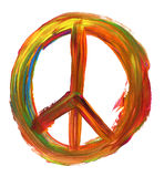 Signe de paix peint à la main Photo stock