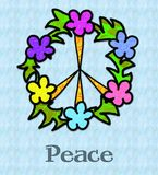 Signe de paix tropical illustration libre de droits