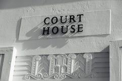 Signe de palais de justice Images libres de droits