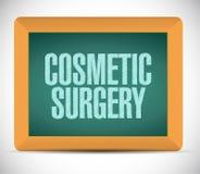 signe de panneau de chirurgie esthétique illustration stock
