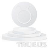 Signe de papier de zodiaque Taureau - symbole astrologique et d'horoscope dessus Photo libre de droits