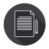 Signe de papier Pen Web Icon de contrat de document de feuille Illustration de Vecteur