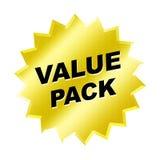 Signe de paquet de valeur Photographie stock