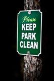 Signe de parc Photos libres de droits
