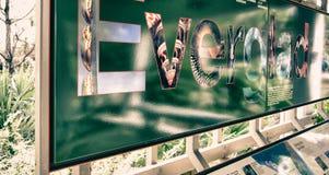 Signe de parc national de marais Images stock