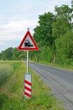 Signe de passage à niveau d'Allemand Image stock