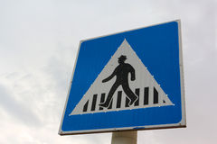 Signe de passage piéton photographie stock libre de droits