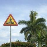 Signe de passage pour piétons Image libre de droits