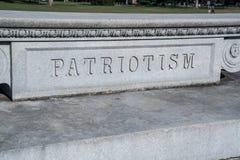 Signe de patriotisme découpé dans la pierre Photos libres de droits