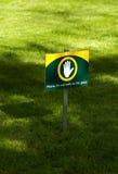 Signe de pelouse Images libres de droits