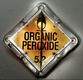 Signe de peroxyde organique Photos libres de droits