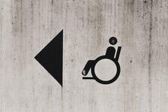 Signe de personne handicapée Image libre de droits